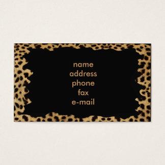 léopard cartes de visite