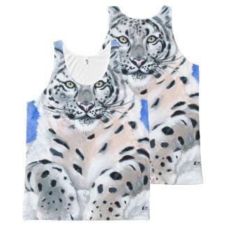 Léopard de neige débardeur tout-imprimé
