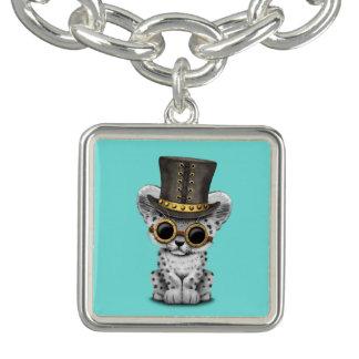 Léopard de neige mignon de Steampunk CUB Bracelets
