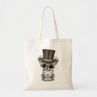 Léopard de neige mignon de Steampunk CUB Sac Fourre-tout