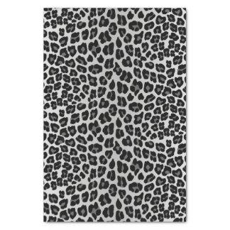 Léopard de neige papier mousseline