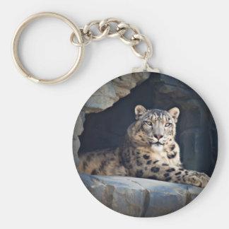 Léopard de neige porte-clefs