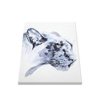 Léopard de neige sur la toile
