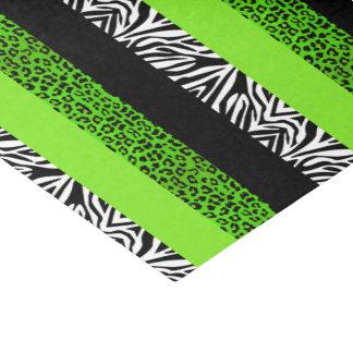 Léopard de vert de chaux et poster de animal de papier mousseline