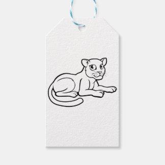 Léopard Jaguar ou panthère Étiquettes-cadeau