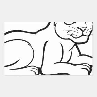 Léopard Jaguar ou panthère Sticker Rectangulaire