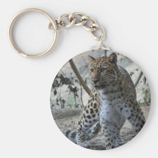 Léopard majestueux porte-clefs