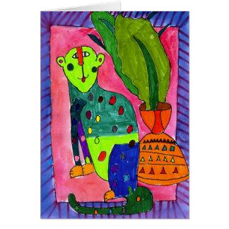 Léopard par Jullien Jollon, âge 12 Cartes De Vœux