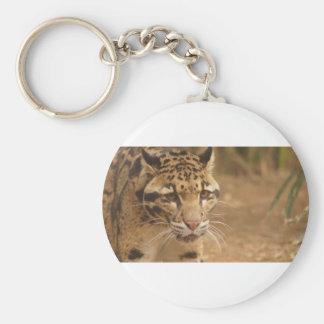 léopard porte-clé rond