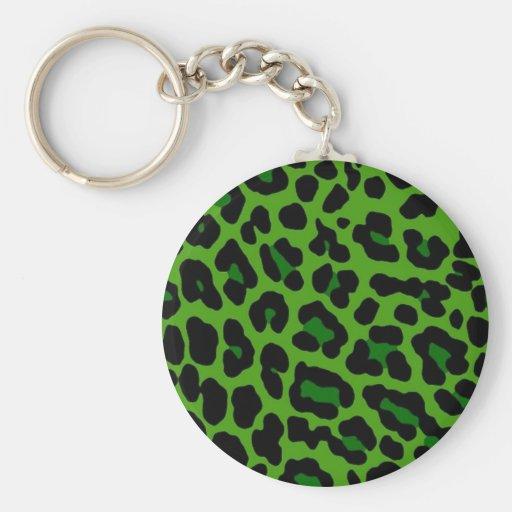 Léopard vert porte-clefs