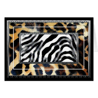 Leopard Zebra Greeting Cards