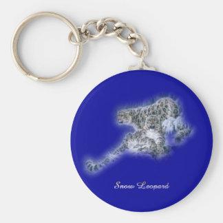 Léopards de neige porte-clé rond