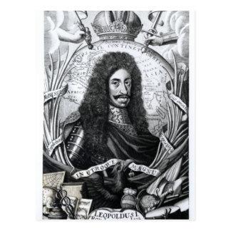 Leopold I, roi de la Hongrie et romain saint Carte Postale