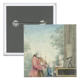 Leopold Mozart et ses enfants Wolfgang Badges