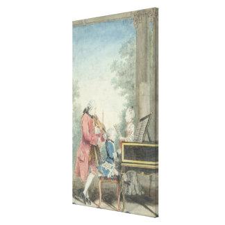Leopold Mozart et ses enfants Wolfgang Toiles