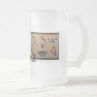 Lépidoptériste - ma collection de papillon frosted glass beer mug