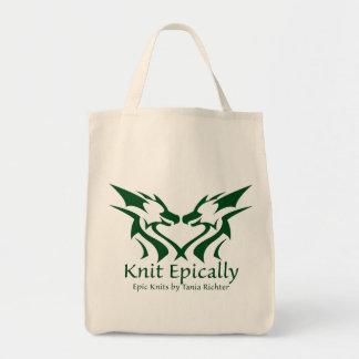 L'épopée tricote le sac fourre-tout