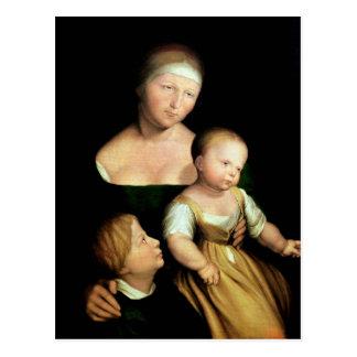 L'épouse de l'artiste et les enfants, 1528 carte postale