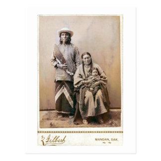 L'épouse et la papoose 1880 de l'ours gris carte postale