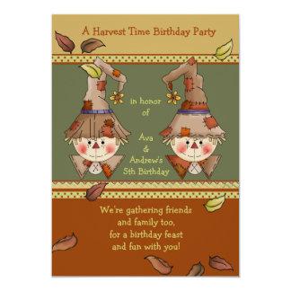 L'épouvantail jumelle l'invitation carton d'invitation  12,7 cm x 17,78 cm