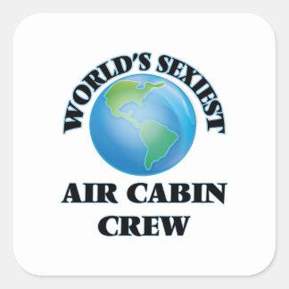 L'équipage de cabine de l'air le plus sexy du sticker carré