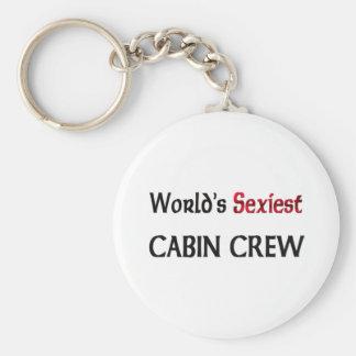 L'équipage du cabine le plus sexy du monde porte-clé rond