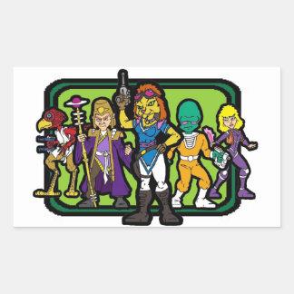 L'équipage Sticker Rectangulaire