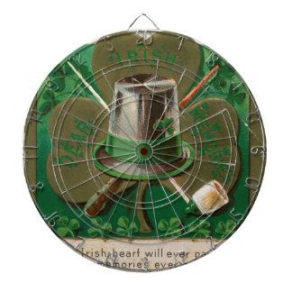 L'erin de shamrock de jour de VintageSaint Patrick Jeux De Fléchettes