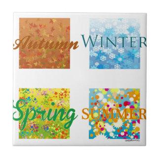 Les 4 Saisons. Graphisme et couleurs ! Carreaux En Céramique