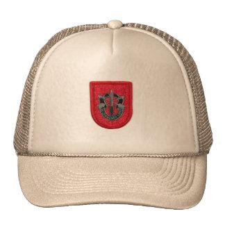 les 7èmes forces spéciales groupent le chapeau de  casquettes