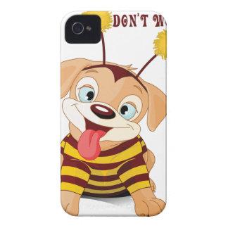 Les abeilles d'amants de chiots de chien ne coques Case-Mate iPhone 4