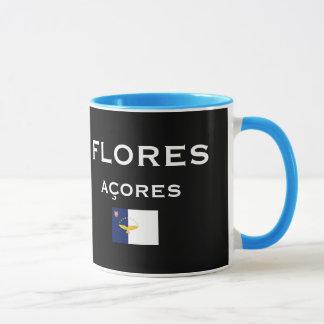 Les Açores - la tasse de café de carte de Flores
