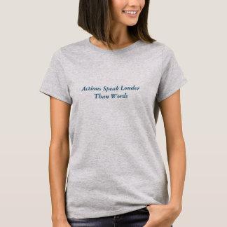 Les actions parlent le T-shirt nano de V-Cou de