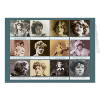 Les actrices carte de vœux