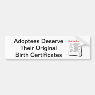 Les adoptés méritent OBCs Autocollant Pour Voiture