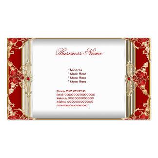 Les affaires rouges élégantes de femme blanche d'o carte de visite