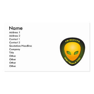 Les agents du FBI sont les gens aussi Carte De Visite Standard