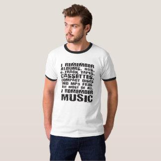 Les albums, 45s, 8-Track attache du ruban adhésif T-shirt