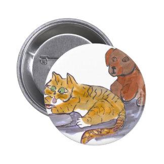 Les aliments pour chiens, Yum, indiquent le chaton Pin's