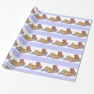 Les aliments pour chiens, Yum, indiquent le chaton Papiers Cadeaux Noël