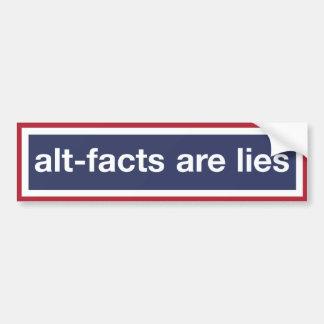 Les Alt-faits sont des mensonges Autocollant De Voiture