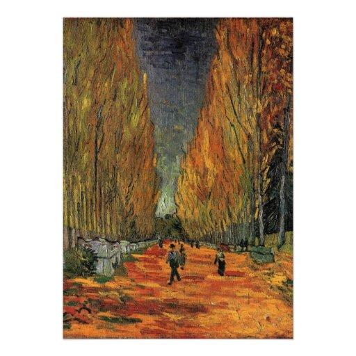 Les Alyscamps par Vincent van Gogh Invitations