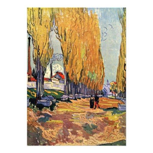 Les Alyscamps par Vincent van Gogh Faire-part