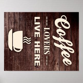 Les amants de café vivent ici affiche