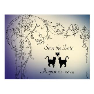 Les amants de chats de jardin font gagner la date cartes postales
