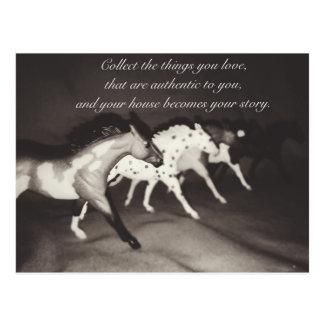 Les amants modèles de cheval rassemblent les cartes postales
