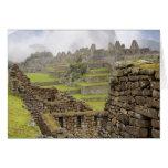 Les Amériques, Pérou, Machu PIcchu. L'antique Carte De Vœux