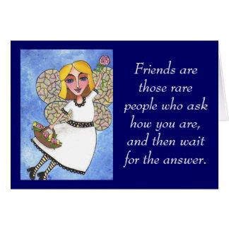 Les amies sont ces personnes rares… - carte de