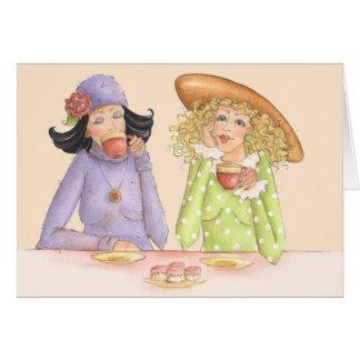 Les amies sont des soeurs - carte de voeux