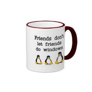 Les amis ne laissent pas des amis font des fenêtre mugs